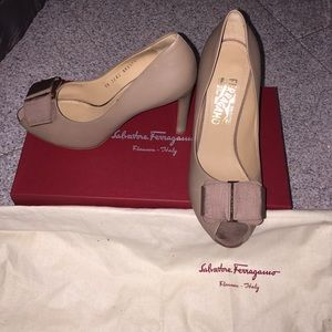 Ferragamo Shoes - Salvatore Ferragamo Peep Toe Heels