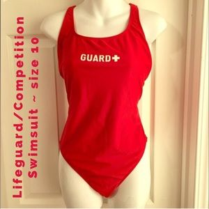 4616742b602 SPORTI Swim - SPORTI Red Lifeguard   Competition Swim Suit 10 12