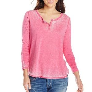 Volcom Tops - Volcom Pink Burnout Long Sleeve Tee XS