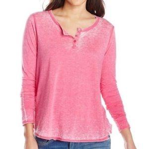 Volcom Pink Burnout Long Sleeve Tee XS