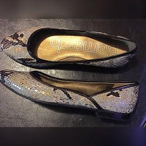 Bernardo Shoes - Bernardo Snakeskin flats