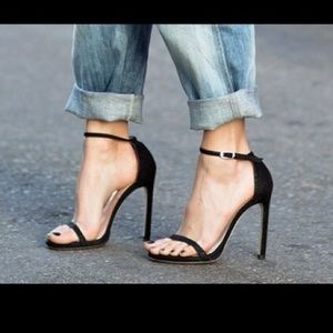 Stuart weitzman nudist goosebump sandal heels 6
