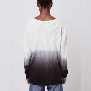 SALEDip-dye sweater /knit jumper  