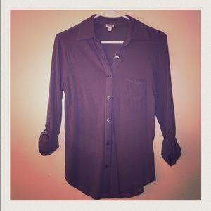 Splendid XS Gray button down shirt