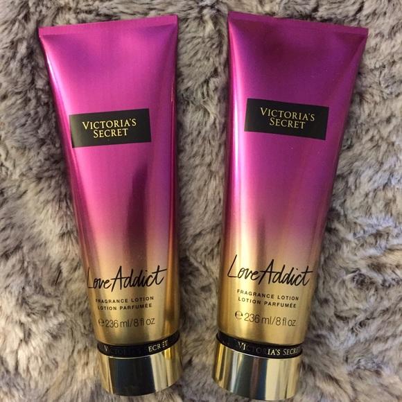 f777258cc994d 2 Victoria's Secret Love Addict Fragrance Lotion NWT