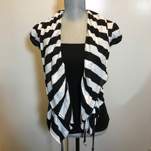 Aryn K Tops - Aryn K Black & White Stripe Top. Worn Once. Size S