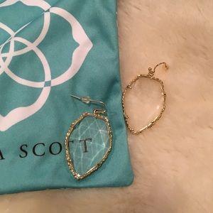Kendra Scott clear crackle earring