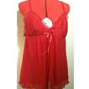 Vintage Other - Vintage Red Babydoll Set