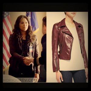 LaMarque Jackets & Blazers - LaMarque Joanna Asymmetric Leather Moto Jacket