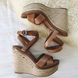 Prada Shoes - Prada Crisscross Ankle-Strap Platform Sandals