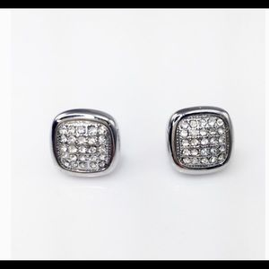 Adia Kibur Jewelry - Crystal Square Stud Earrings""