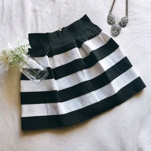 Dresses & Skirts - Black + White Striped Skirt