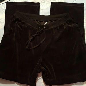 ACTIVOLOGY Pants - WOMENS SZ 1X BLACK VELOUR ACTIVOLOGY LOUNGE PANTS