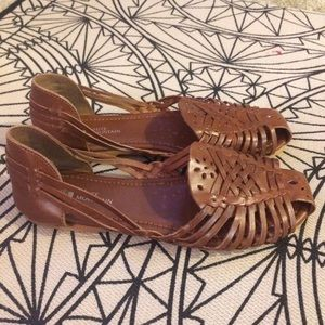 White Mountaineering Shoes - White Mountain cute brown woven sandals - size 8