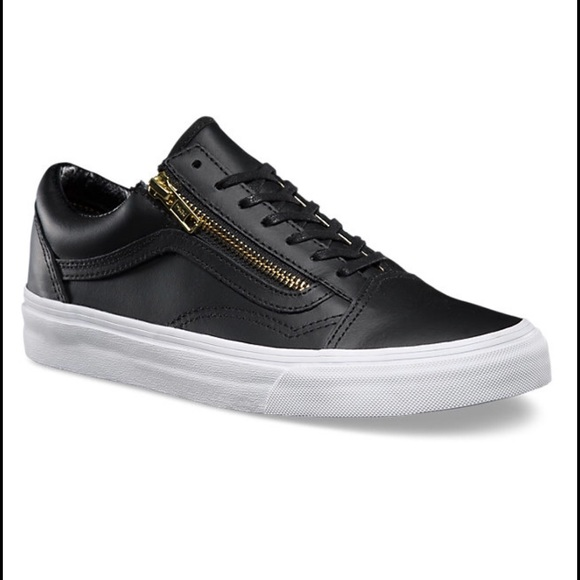 4e3ee71a1bafd8 Vans Black and Gold Old Skool Zips