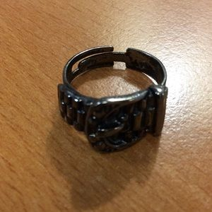Jewelry - New Dark Silver Belt Adjustable Ring