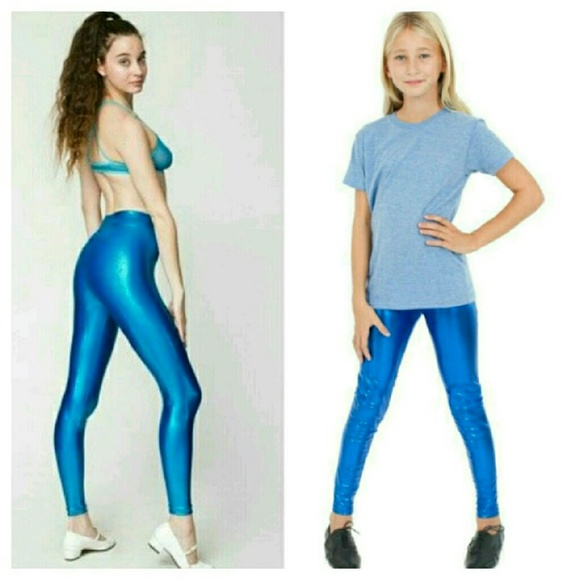 55% off American Apparel Pants - AA Shiny Blue Leggings from ...