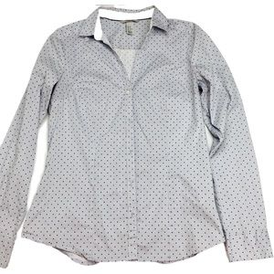 H&M Blue Dotted Button Up