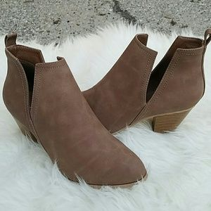 starlight footwear  Shoes - PU TAUPE ANKLE BOOTIES