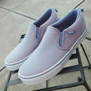 0092394a98 Vans Shoes - NWT VANS Asher Perforated Jersey Slip On W7.5 M6