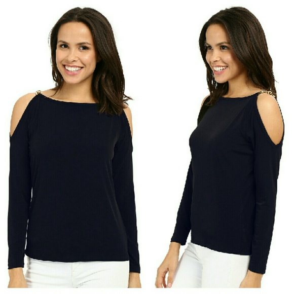 a4e35d6f399 MICHAEL KORS Chain-trim Cold Shoulder Top