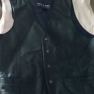 Genuine leather vest made by Wilson's
