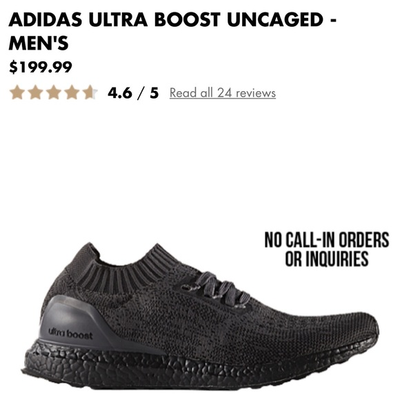 2e97e3b7615 ... switzerland adidas ultra boost triple black uncaged 9.5 limit. 63329  e2697