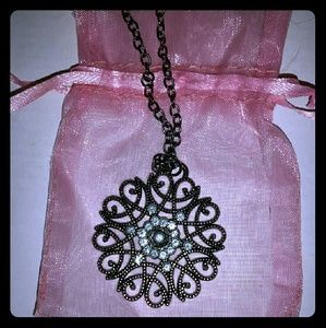 Jewelry - *Gorgeous Silver-toned Necklace with CZ!*