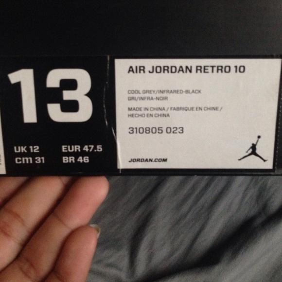 aab7dcbda52 Jordan Other - Air Jordan Retro 10