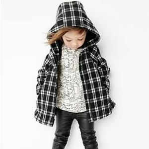 GAP Other - Gap toddler girls checkered cape coat 2 NWT