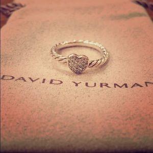 David Yurman Pave Heart Ring with Diamonds