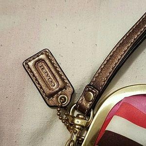 Coach Bags - COACH Legacy Striped Wristlet