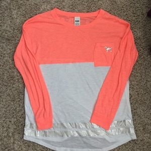 Oversized Pink brand long sleeve shirt