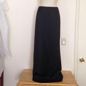 Emporio Armani Dresses & Skirts - Emporio Armani satin maxi skirt high back slit