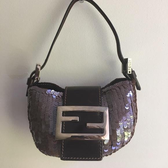 a429e744f9f6 Fendi Handbags - Fendi Mini Croissant Purse