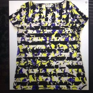 Peter Pilotto Tops - Peter Pilotto floral striped blouse- XS