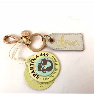 """Spartina 449 Accessories - NWT Spartina 449 """"Clever"""" Patent Leather Keychain"""