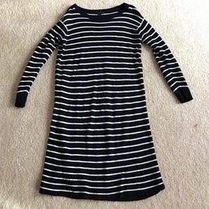 J Crew jcrew Navy Striped Sweater Dress S Small