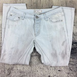Free People Denim - Free people boyfriend cropped jeans