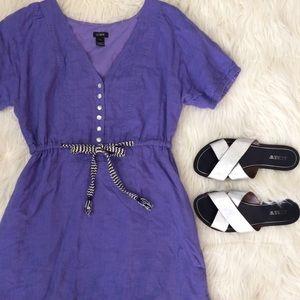 J. Crew Dresses & Skirts - Purple linen dress