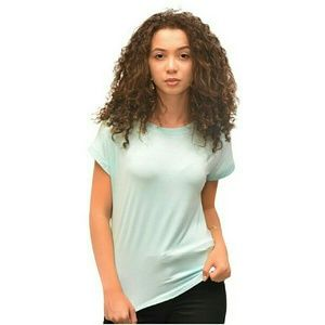 Tops - Solid High-Low Tee - Teal