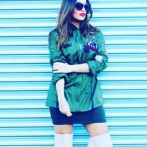 Embellished army jacket