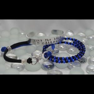 Jewelry - Back The Blue (3) Piece Bracelet Set