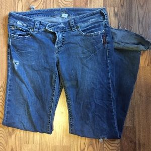 73% off Silver Jeans Denim - Silver Santorini Capri Jeans size 32 ...