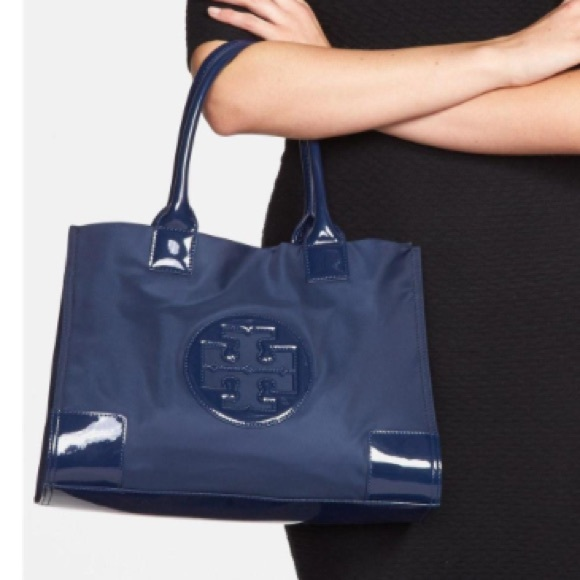 7e501f9a076 Tory Burch Bags | Sale Mini Nylon Ella Tote Bag Navy | Poshmark