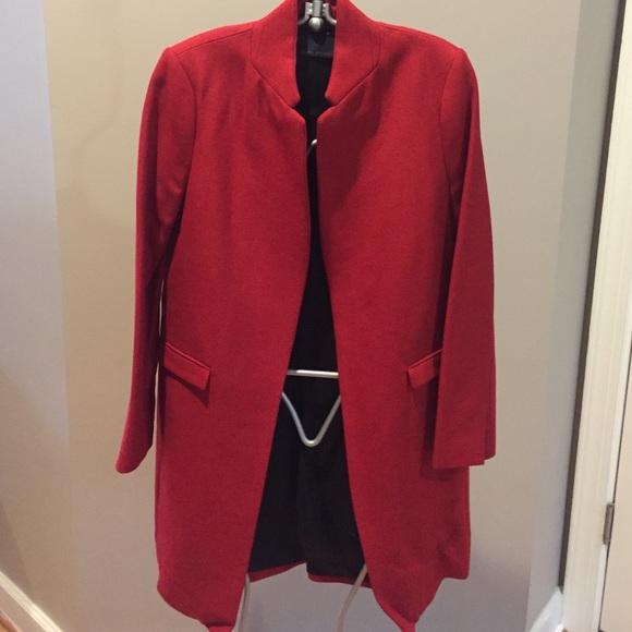 73% off Zara Jackets & Blazers - Zara woman red overcoat or long ...