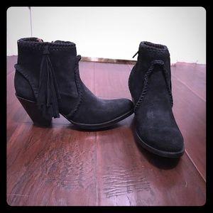 Old Gringo Shoes - OLD GRINGO Adela Black Suede Ankle Cowboy Boots