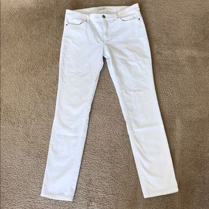 Women's white corduroy slim pants - size 8