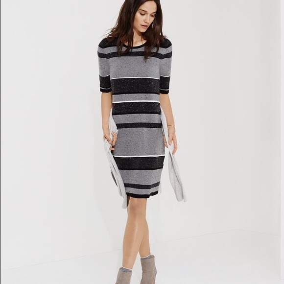 73894d0f4b73 Lou & Grey Dresses & Skirts - Lou & Gray Short Sleeved Striped Sweater Dress