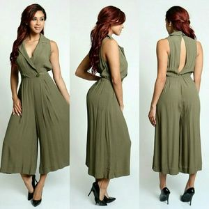 Pants - NWT Sleeveless jumpsuit with a V neckline